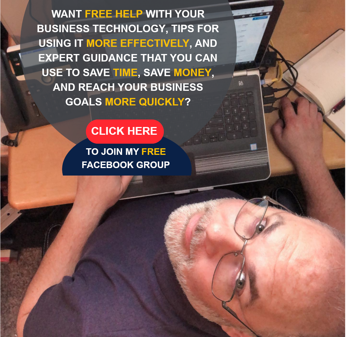 Want FREE help with your Business Technology, tips for using it more effectively, and epert guidance that you can use to save time, save money, and reach your business goals more quickly? Click Here to join my FREE Facebook Group!